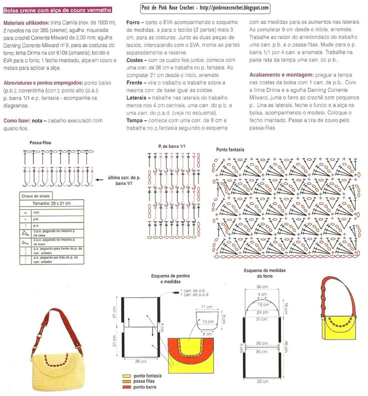 Free Crochet Purse Pattern/Diagram...translate.