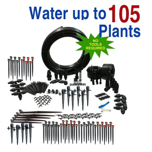 The Premium Greenhouse Drip Irrigation Kit is a self contained kit that contains everything you need to water your greenhouse plants. You will find all the parts you need to irrigate using multiple zones starting from any standard water faucet or hose end. The Premium Greenhouse Drip Irrigation Kit also includes some Adjustable Spray Jets that can be used during prorogation or for plants that prefer to have moist leaves...