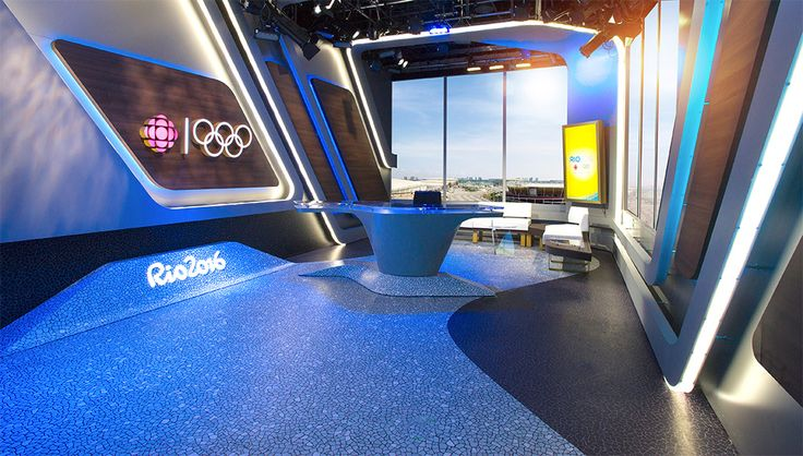 CBC main set design that will be in International Broadcast Centre