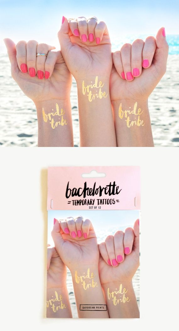 Tattoos für deine Brautjungfern als Idee für deinen Polterabend ❤ weddingbachelorette temp tattoo pack - party idea for the bridesmaids and bride!