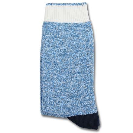 Democratique Socks RELAX MELANGECONTRAST Henri Blue / Broken White / Navy