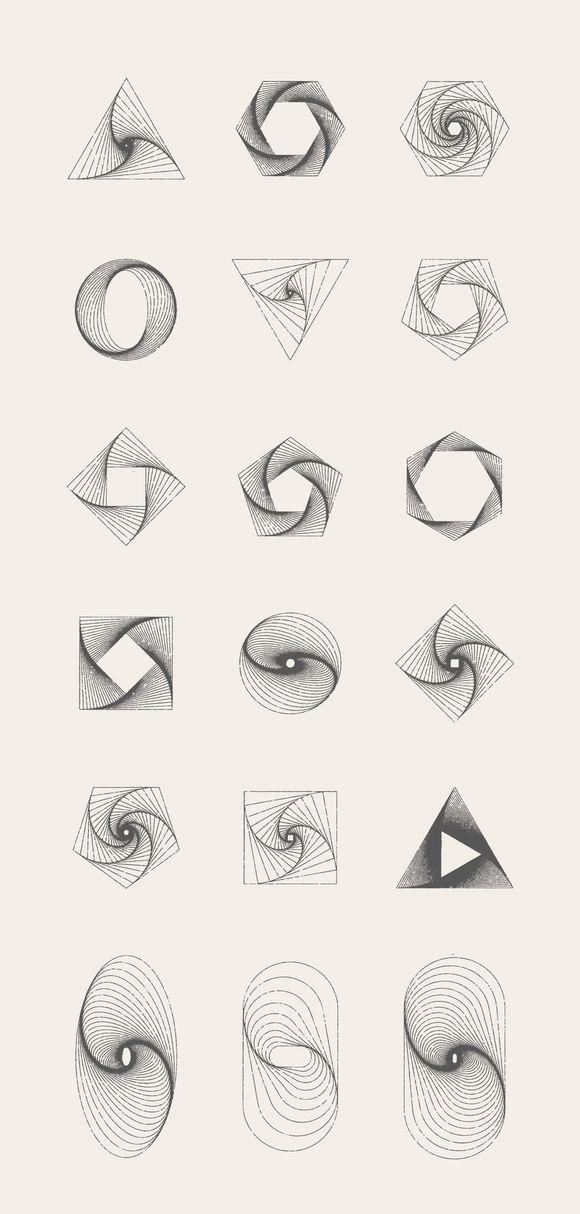 MASSIVE GEOMETRY BUNDLE +250 geometric items for sale
