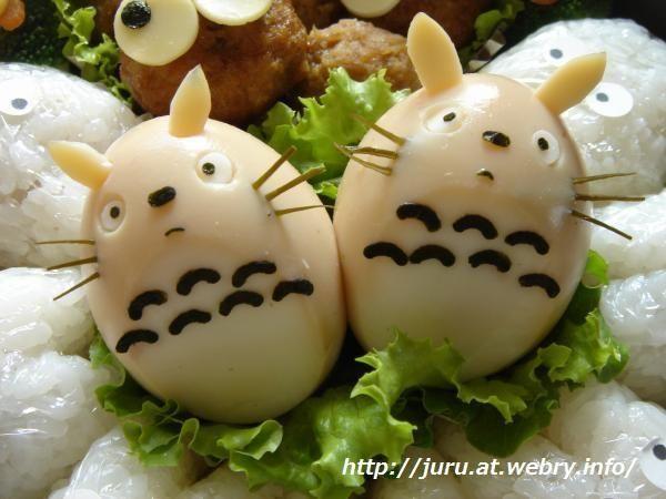 boiled egg totoro