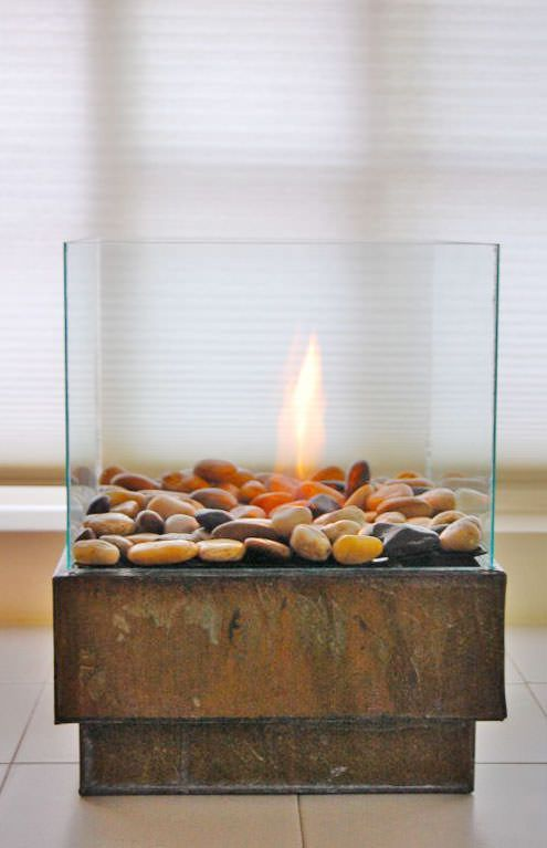 25 best ideas about tabletop fire pit on pinterest for Alcohol fire pit