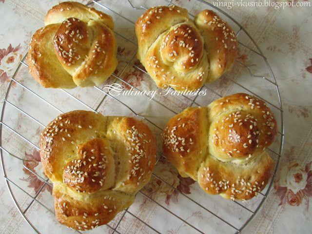 Питки розички/ Rose-shaped bread
