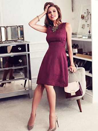 Shop Eva Mendes Collection - Maria Dress - Jacquard . Find your perfect size online at the best price at New York & Company.