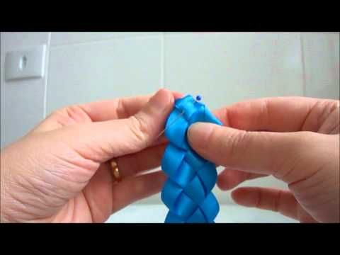 ▶ Aprenda a fazer um * Trançado de Fitas * » MulherCatolica.Org - YouTube