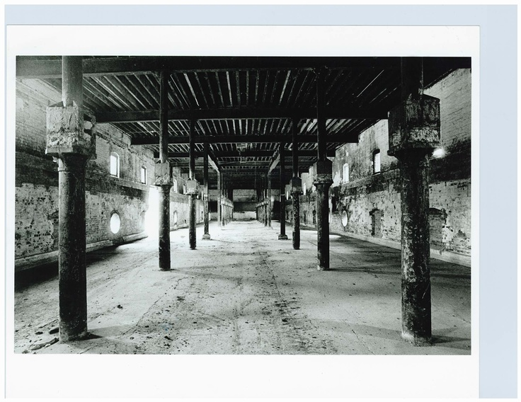 The Malthouse before it was renovated. An abandoned space.