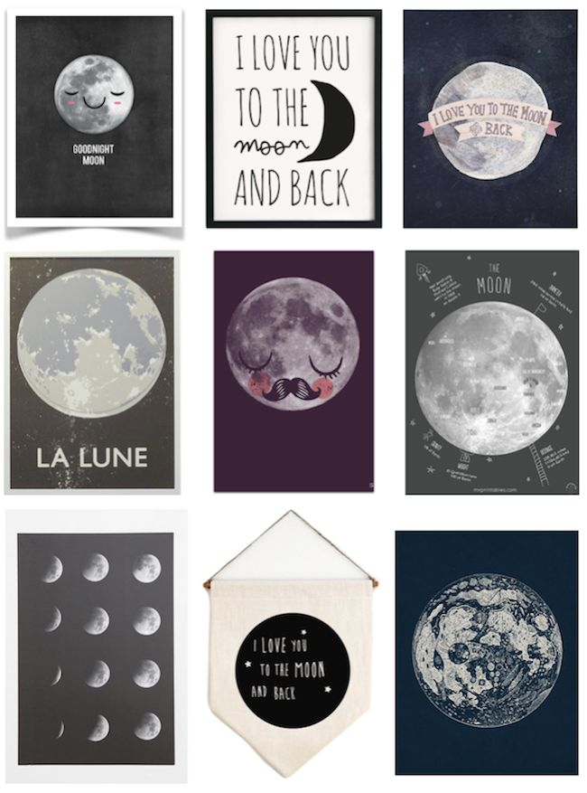 A Lovely Lark: 9 of the Cutest Moon Prints + Posters