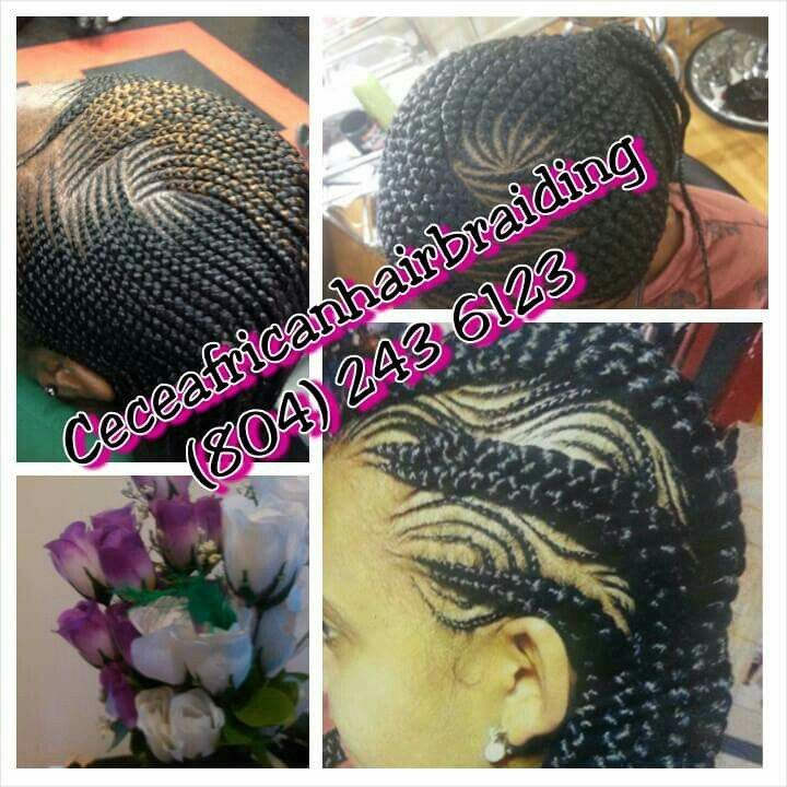 If you're in the Richmond area looking for a braid shop go to ce ce's African hair braiding salon...clean, nice and professional environment...address 1417 hull st rd richmond va, 23224