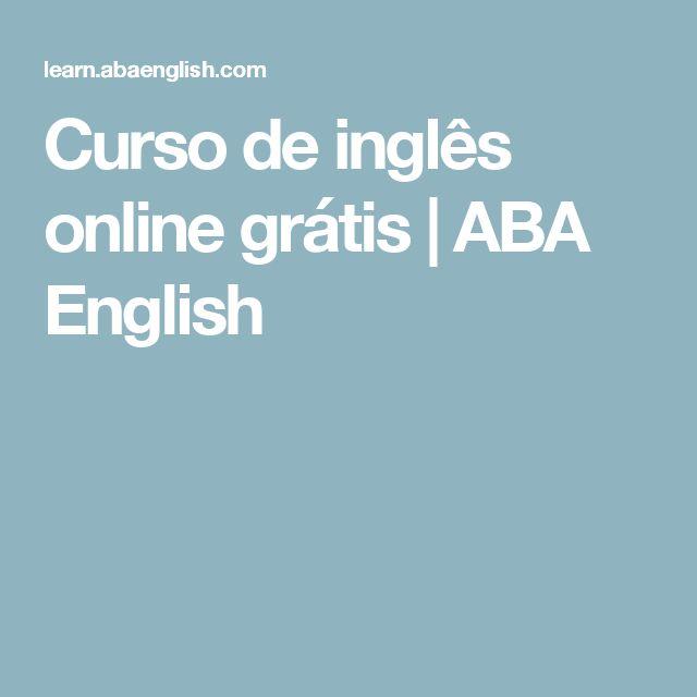 Curso de inglês online grátis   ABA English