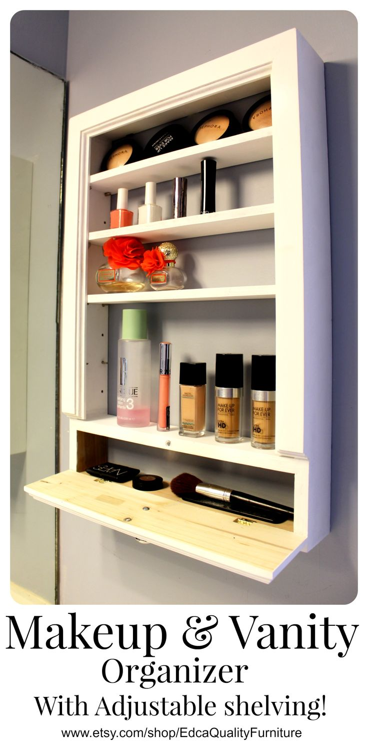 This one of a kind Vanity & Makeup Organizer has adjustable shelves! You will be able to store anything from makeup, medicine, lotions, perfumes, makeup brushes to anything else you want to put there regardless of the size because it will fit with no problem! This durable and stylish vanity organizer is available in various sizes to fit all your items. It also includes a storage drawer to keep everything neatly stored and within reach. In addition, this organizer is meant to be mounted on…