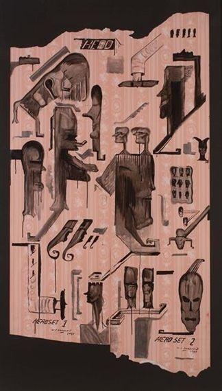 Bill Hammond, Head Set, 1989
