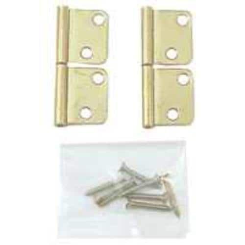 Prime Line N 6835 Bi-Fold Door Shutter Hinge, Brass Plated, Silver steel