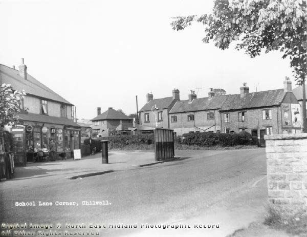 School Lane Corner, High Road, Chilwell, c 1950s