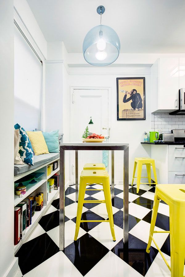 """""""I prefer the open shelving as a great way to display some of my colorful kitchen accessories, cookbooks, and other knickknacks. I was excited by the idea of a window seat, but I did not expect the vibrancy, coziness, and warmth it brings to my new kitchen. I absolutely adore it!"""" - Evelyn"""