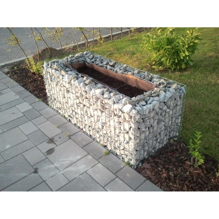 Gabions24 - Raised garden , mesh size 5 cm, 200x100x100 cm, wall thickness 15 cm - Gabion raised garden beds