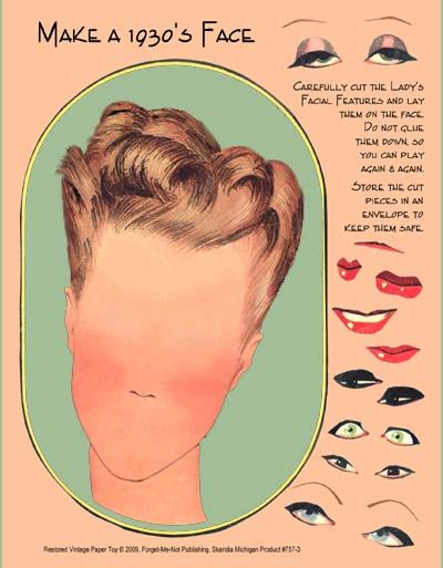 Make a 1930s Face paper toy.