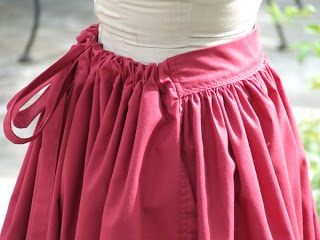 Show Tell Share: How to Make an Easy Pioneer Trek Skirt... i like how its flat in front but has elastic or drawstrings in the back