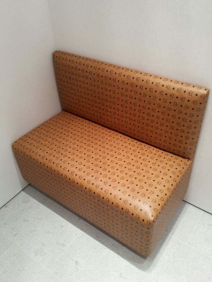 MCM couch from the MCM Store in Dallas Galleria