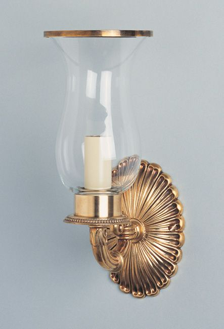 W4-045 - Small Empire Style Storm Light with Ornate Scroll Arm