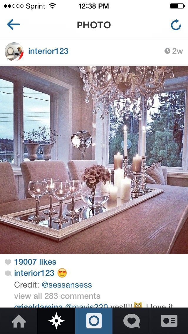 Dining Room Table Candle Decor Mirror And Candles Centerpiece Dining Room Candle Candle Room Candle Table Decorations