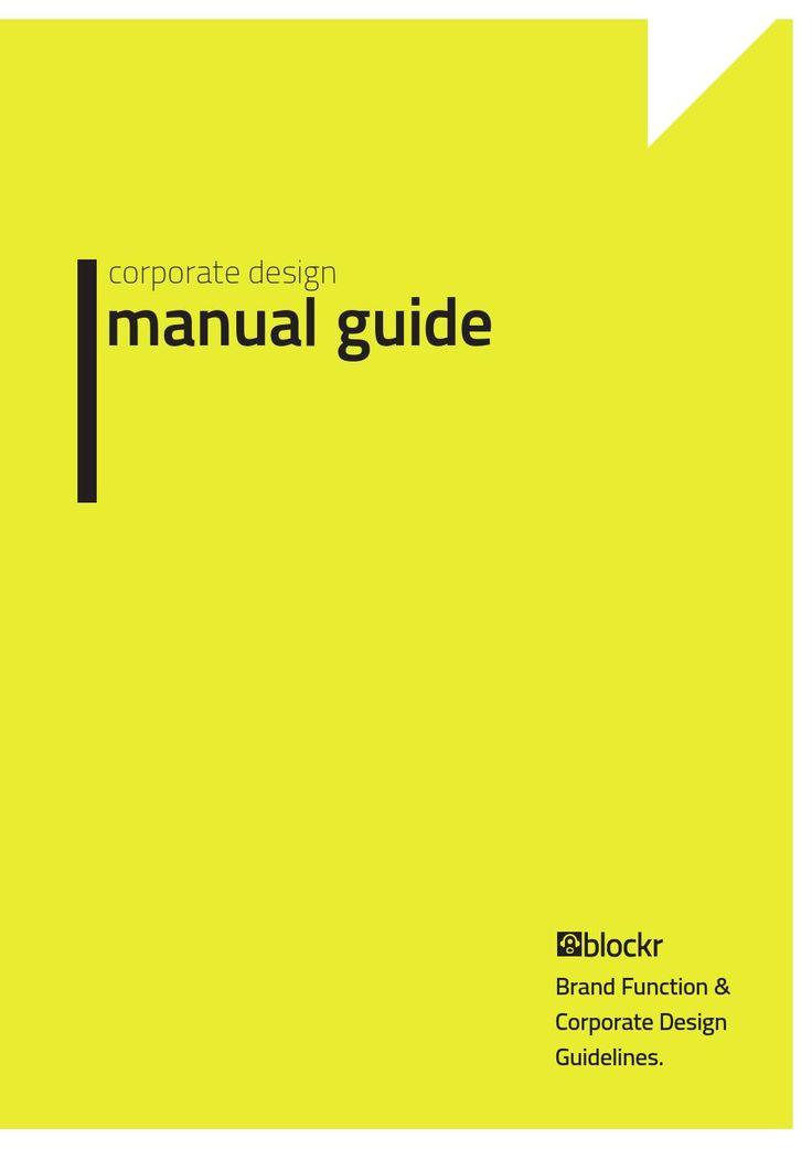 Corporate Design Manual Guide
