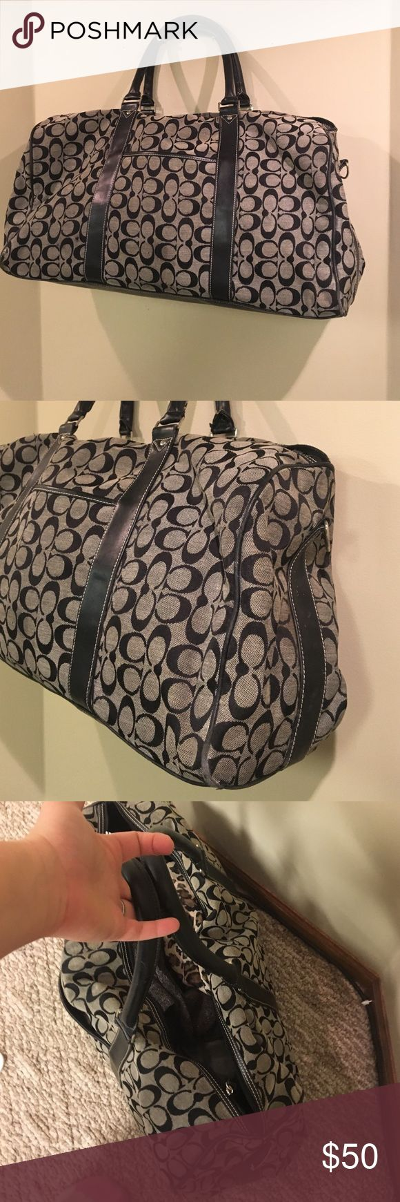 "Coach Duffle Bag Authentic Authentic Coach Duffle bag. 23"" by 7"" Coach Bags Travel Bags"