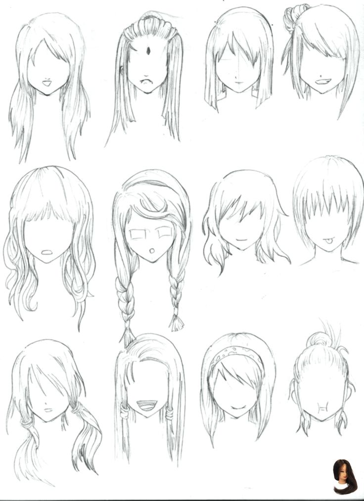 Albums Drawings Easy Easy Hairstyles Drawing Explore Girls Hair Short 28 Albums Of Easy Drawings Of Girls Wi How To Draw Hair Hair Reference Anime Hair