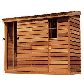 cedarshed 2 x 4 x 6 wood storage shed
