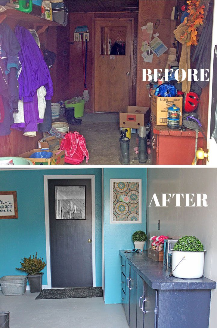 Farmhouse Mudroom Makeover Just With Paint