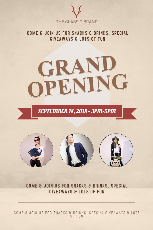 tailor small business grand opening flyer design template grand