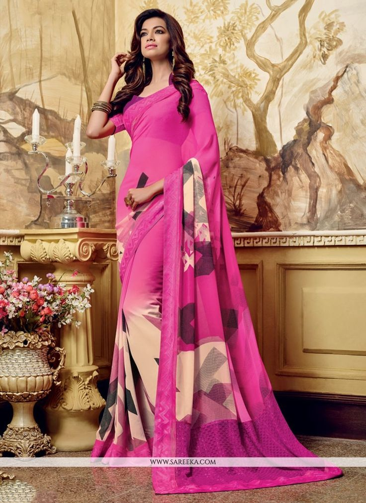 We have ensemble a symphony of enchanting piece to restyle your senses. Real beauty comes out from your dressing style with this pink georgette casual saree. This attire is showing some really mesmeri...