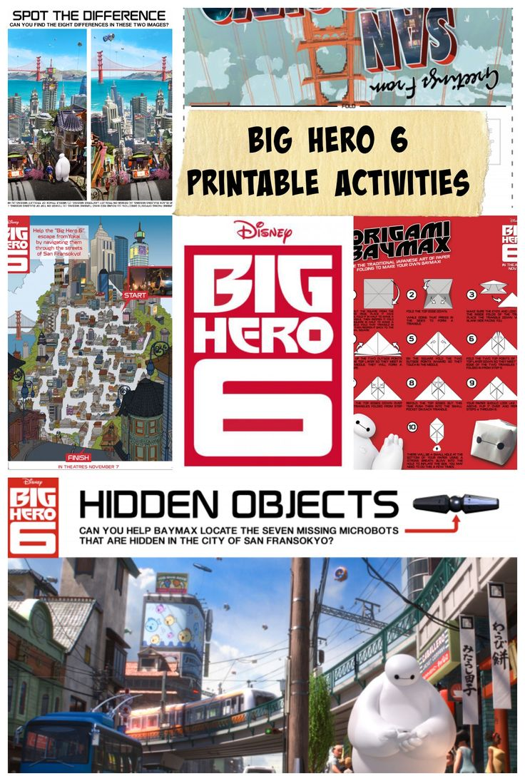 Big Hero 6 Movie Review and Activity Pages #BigHero6 #MeetBaymax #Printables