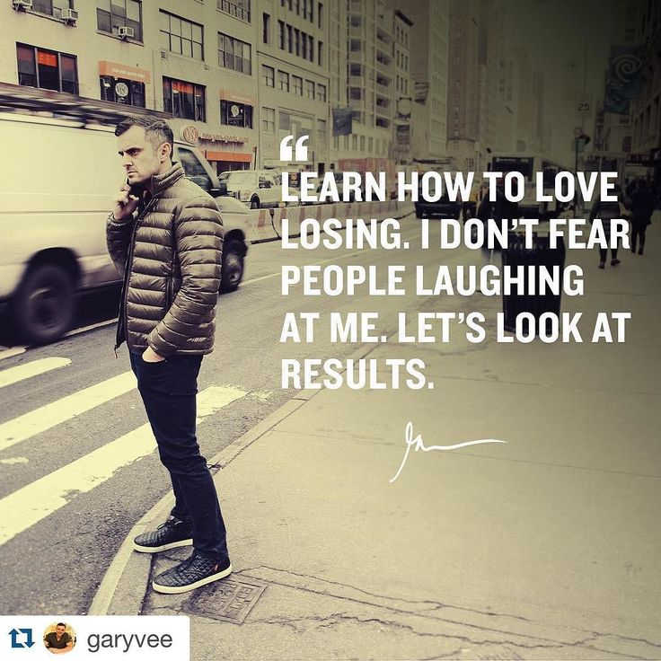 """I absolutely love Gary Vee. I've been listening and learning so much from him lately...#Repost @garyvee  """"The second. You realize losing is part of the game ... And actually a fun and even exciting part ... Things will change for you ... I love losing ... I understand it's part of this game - micro lose to macro win !"""" by Ed Zimbardi http://edzimbardi.com"""