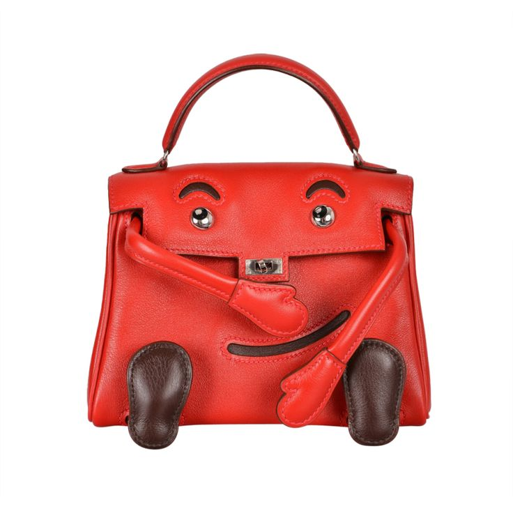 SUPER RARE HERMES KELLY IDOLE KELLY DOLL RED INCREDIBLE COLLECTO: