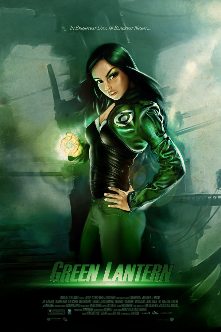 how about a female as green lantern for the justice league. Black Bedroom Furniture Sets. Home Design Ideas