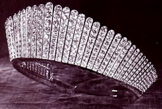 Queen Alexandra's Kokoshnik Tiara. Presented 1888 by the Ladies of Society to the Princess for her 25th wedding anniversary. Garrard.