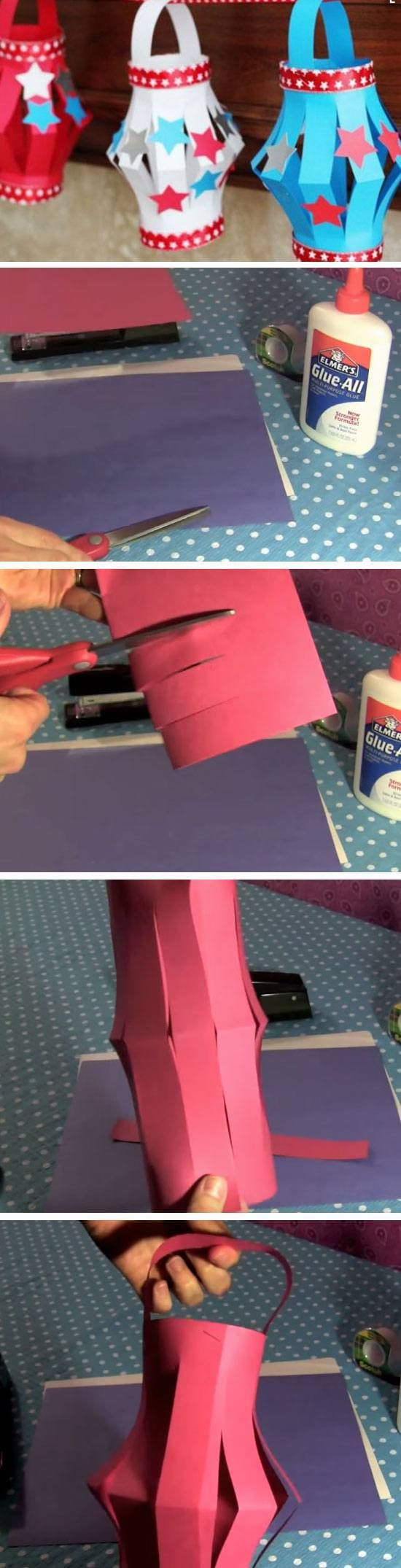 Independence Day Lanterns | 17 DIY July 4th Crafts for Kids that you can't help but try!
