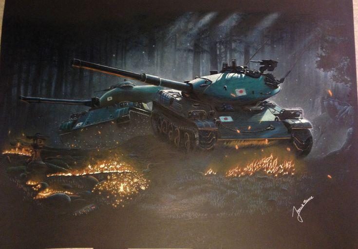 Tanks in the moonlight by Tibiatya.deviantart.com on @DeviantArt