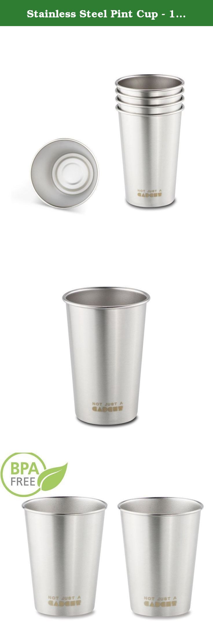 Stainless Steel Pint Cup - 18/8 Food-grade Tumbler Mug for Camping and Hiking - by Not Just A Gadget. −These stainless cups would be wonderful for camping, outdoor picnics, barbeques and parties. They are amazing versatile Stainless Steel Pint Cups by Not Just A Gadget ! −Really useful in summer, these tend to keep cool drinks colder. They do not change the way whatever you're drinking tastes at all. ★ Safe & Hygienic: Stainless Steel Pint Cups are 100% safe, non toxic, PBA free. ★ Great…