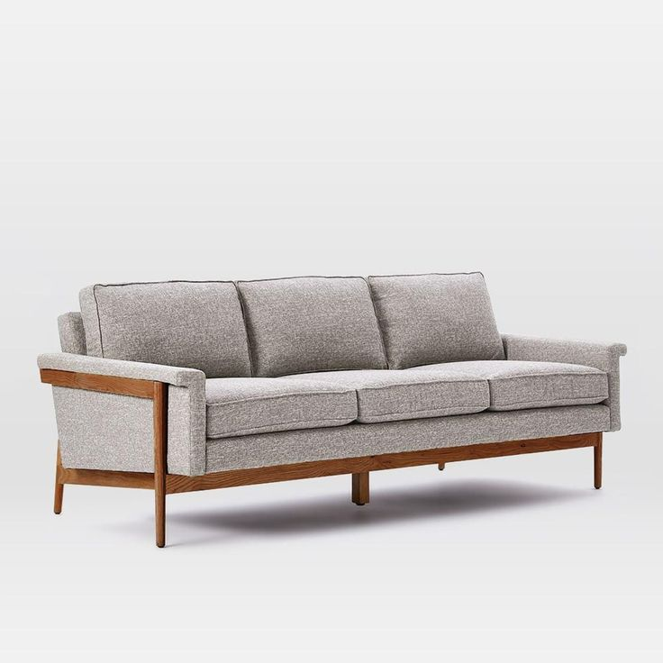 "Leon Wood Frame Sofa (82"")"