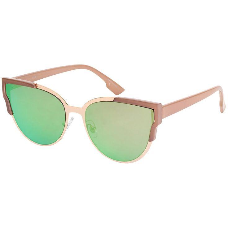 Metall Sonnenbrille Weibliche Sonnenbrille Ozean Linse Sonnenbrille Frauen Brille Silber Gras Grünes Objektiv pqfhuj