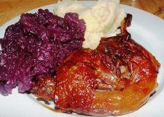 Verus konyhája: Sült kacsacomb, vörösboros párolt káposztával, burgonyapürével