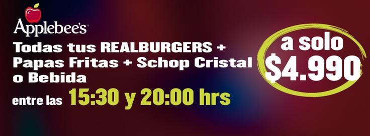 Hasta el 31/09/2012 aprovecha nuestra exquista promoción de Realburgers