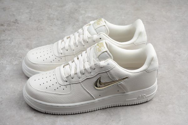 12a7266251e Nike Air Force 1  07 Premium LX Phantom Metallic Gold Star Summit White For  Sale-2