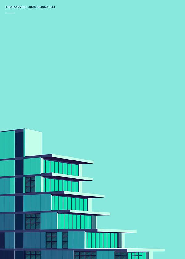 Idea! Zarvos - Architecture Posters | Abduzeedo Design Inspiration