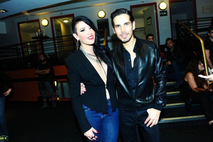 Tara McDonald & Michael Canitrot after their performance at Olympia, Paris.