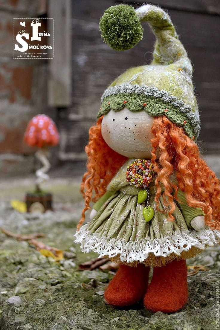 Купить РЫЖАЯ текстильная куколка-малышка - рыжий, текстильная кукла, кукла, кукла текстильная