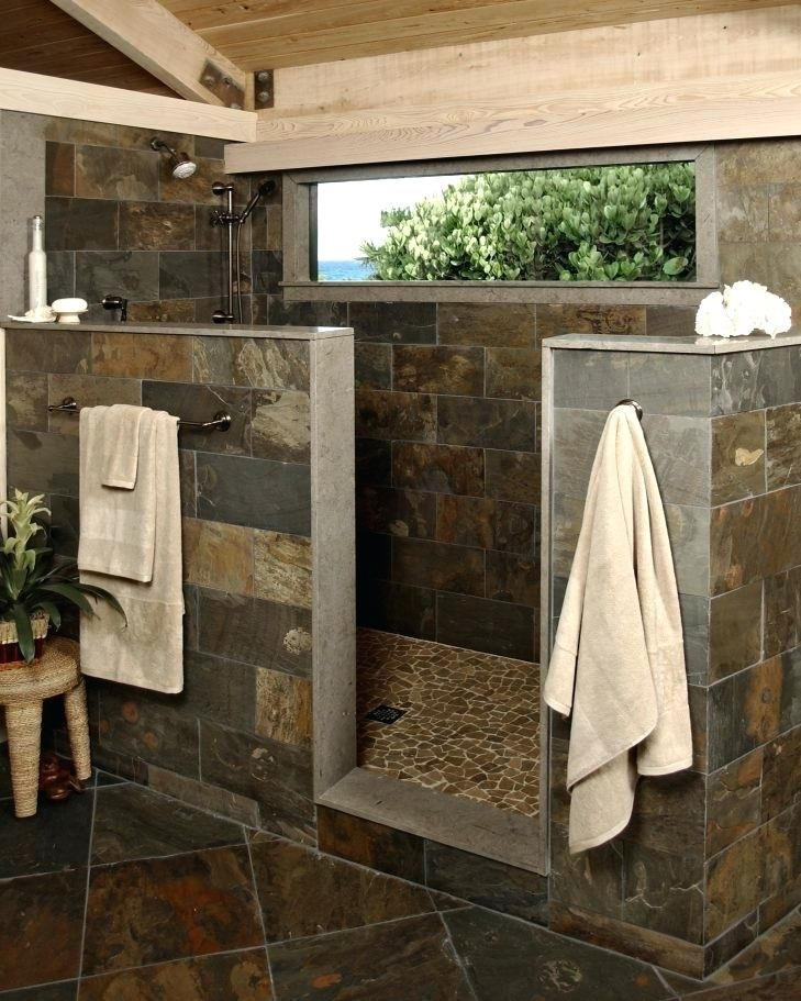 Walk In Showers Without Door Medium Size Of Walk Shower Walk In Showers How To Build A Walk W Rustic Bathroom Designs Rustic Bathrooms Bathroom Farmhouse Style